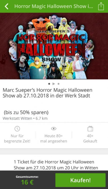 Groupon Deal - Horror Magic Halloween Show